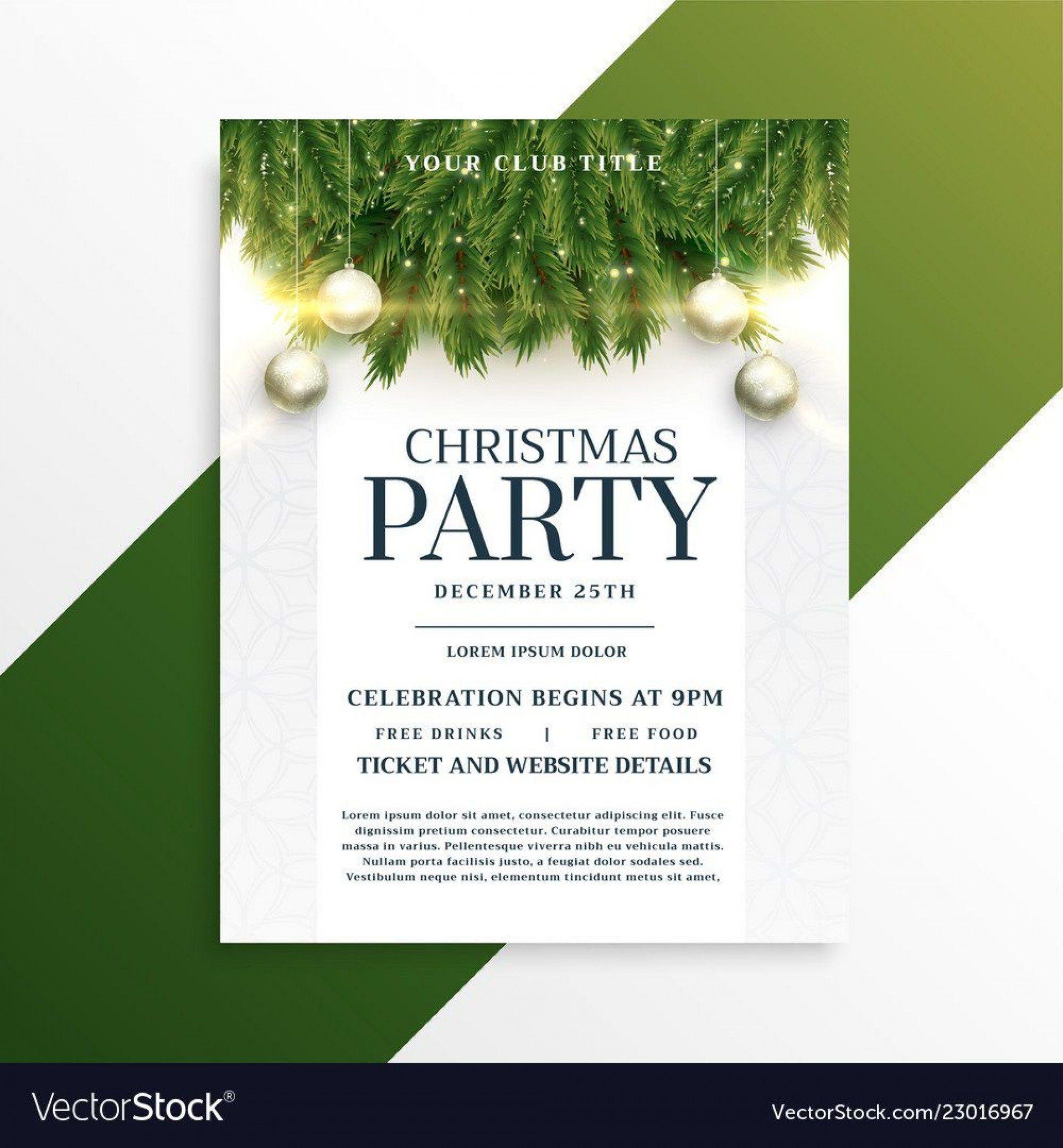 001 Singular Free Holiday Flyer Template Design  Printable Christma Word Sale PartyFull