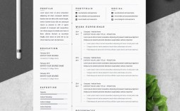 001 Singular Free One Page Resume Template Example  Word Download 2018 Best