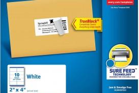 001 Singular Free Online Shipping Label Template Photo