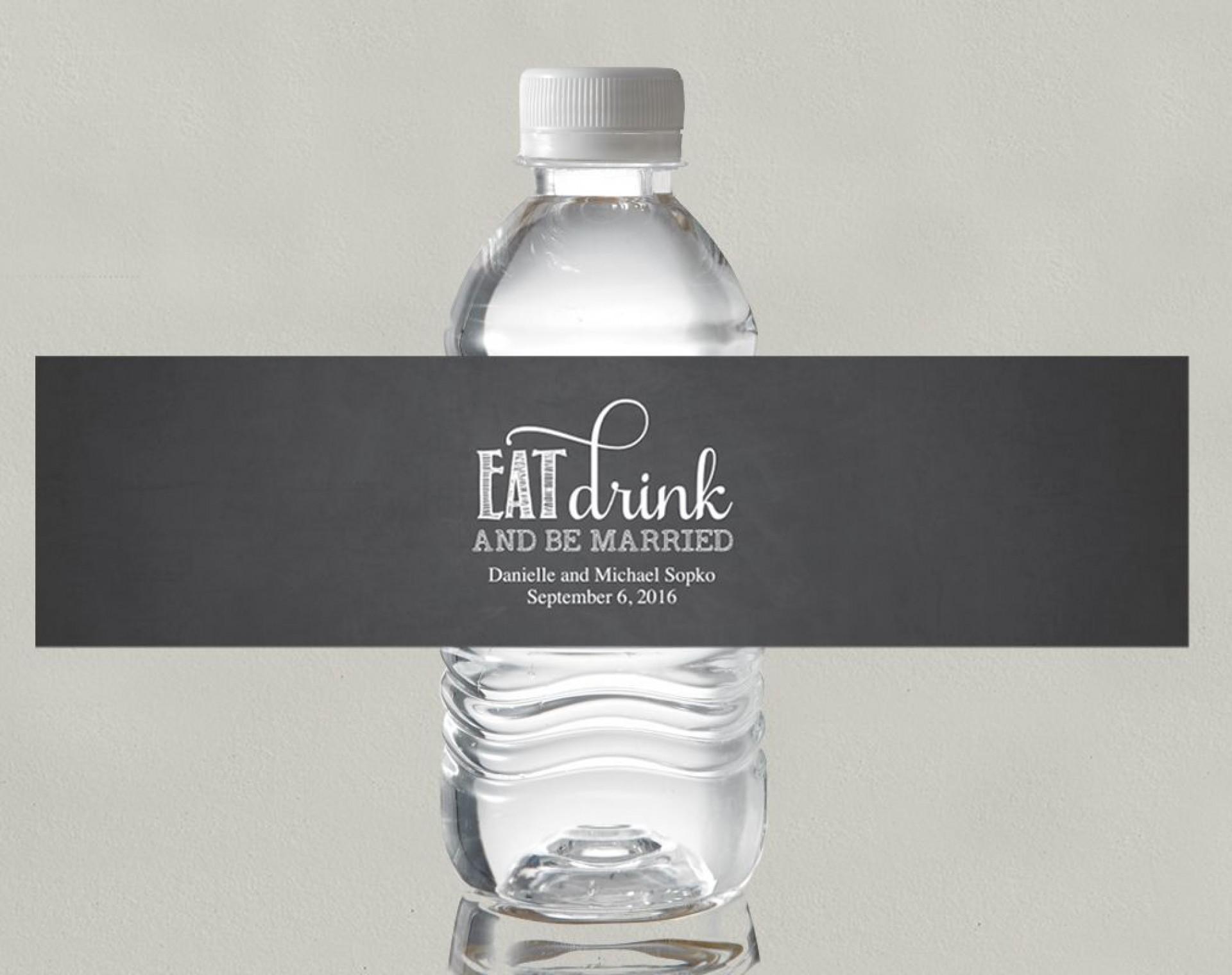 001 Singular Free Wedding Template For Word Water Bottle Label Inspiration  Labels1920