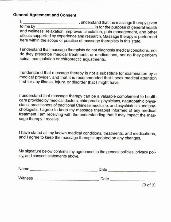 001 Singular Medical Treatment Authorization And Consent Form Template Design 728
