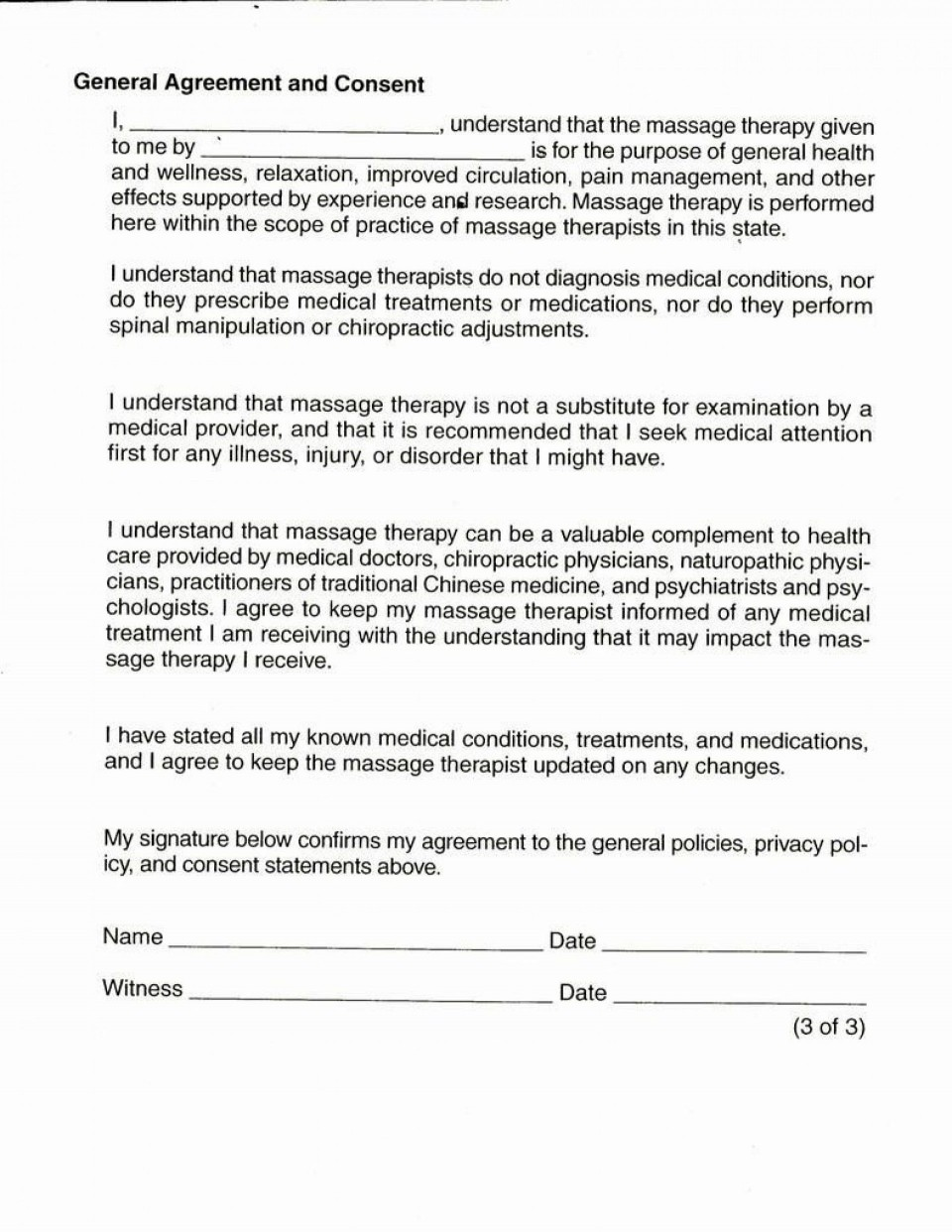 001 Singular Medical Treatment Authorization And Consent Form Template Design 960