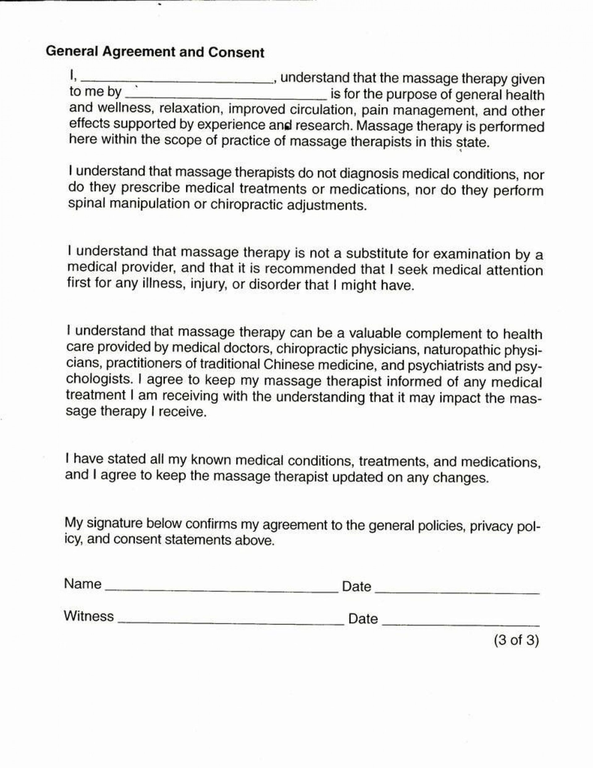 001 Singular Medical Treatment Authorization And Consent Form Template Design