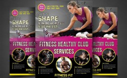 001 Singular Personal Trainer Flyer Template Image  Word Psd