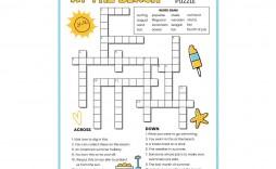 001 Singular Printable Crossword Puzzle For Kid Highest Quality  Kids