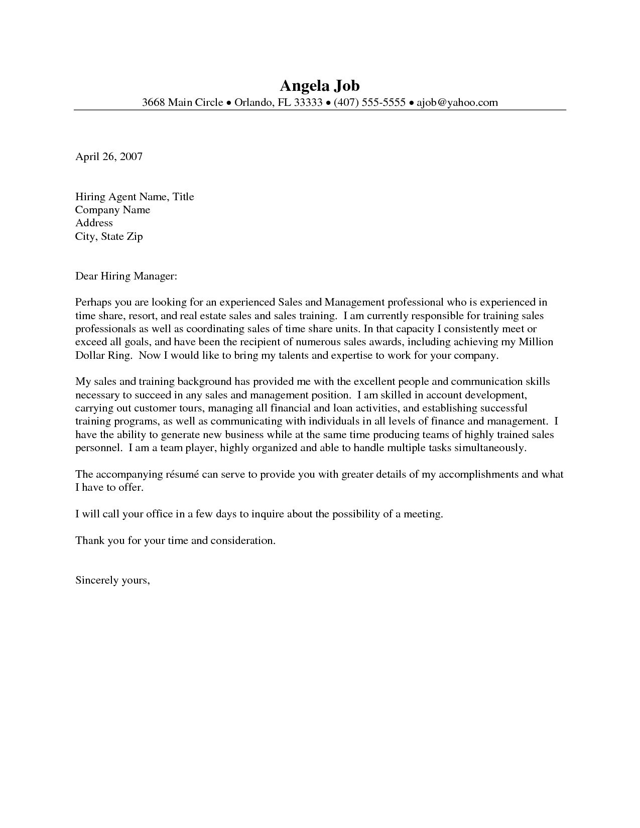 001 Singular Real Estate Marketing Letter Example Picture  Examples Agent SampleFull