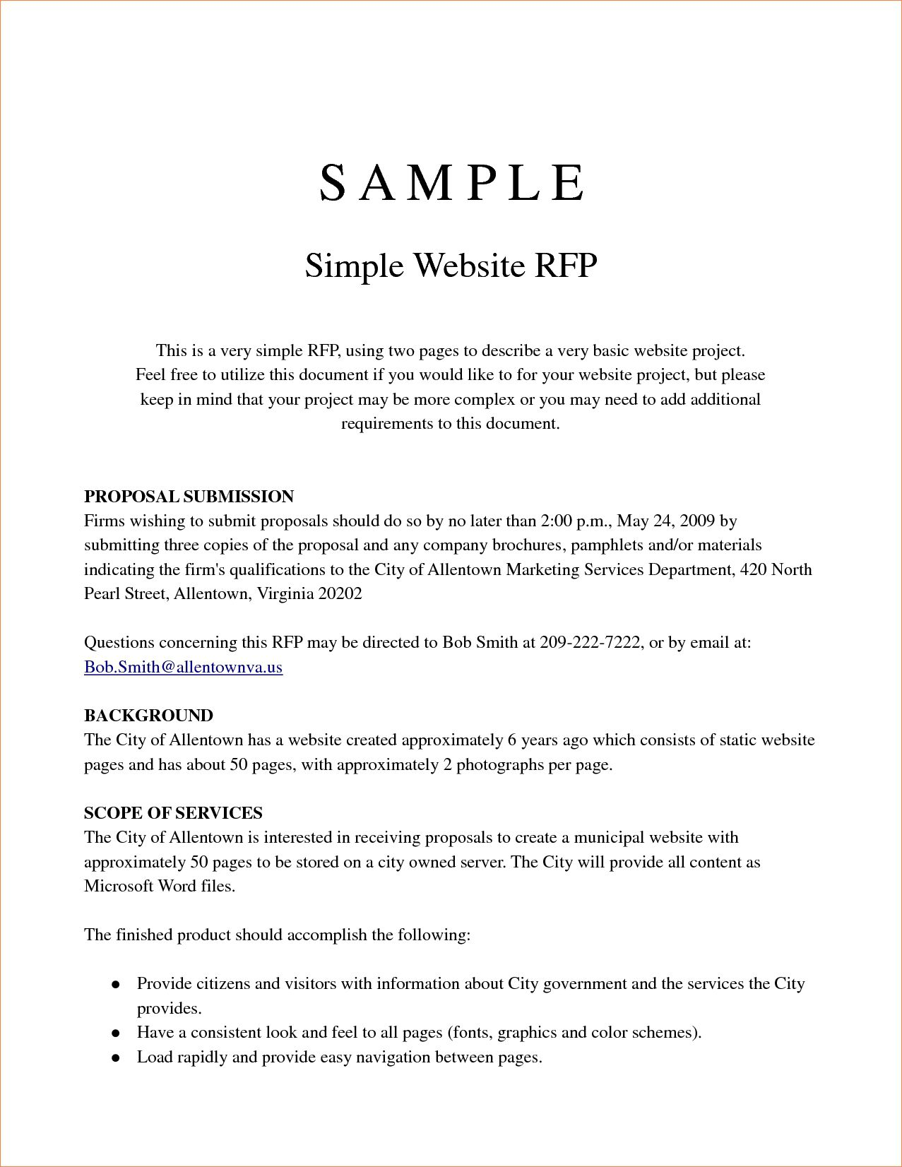 001 Singular Request For Proposal Template Canada Highest Quality Full