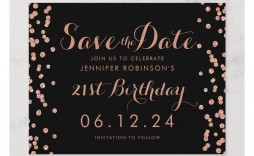 001 Singular Save The Date Birthday Card Template Sample  Free Printable