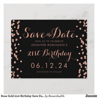 001 Singular Save The Date Birthday Card Template Sample  Free Printable320