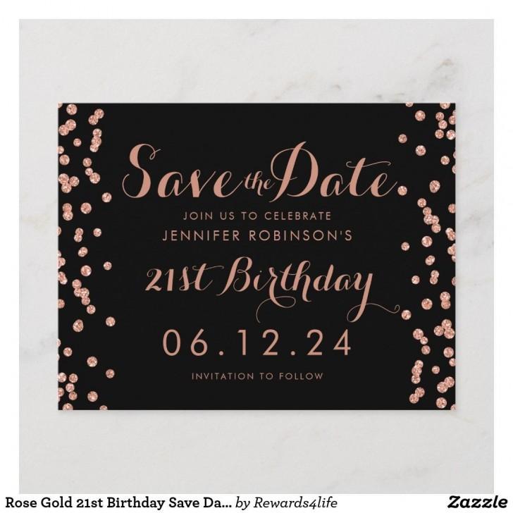 001 Singular Save The Date Birthday Card Template Sample  Free Printable728