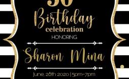 001 Singular Surprise 50th Birthday Invitation Template Word Free Sample