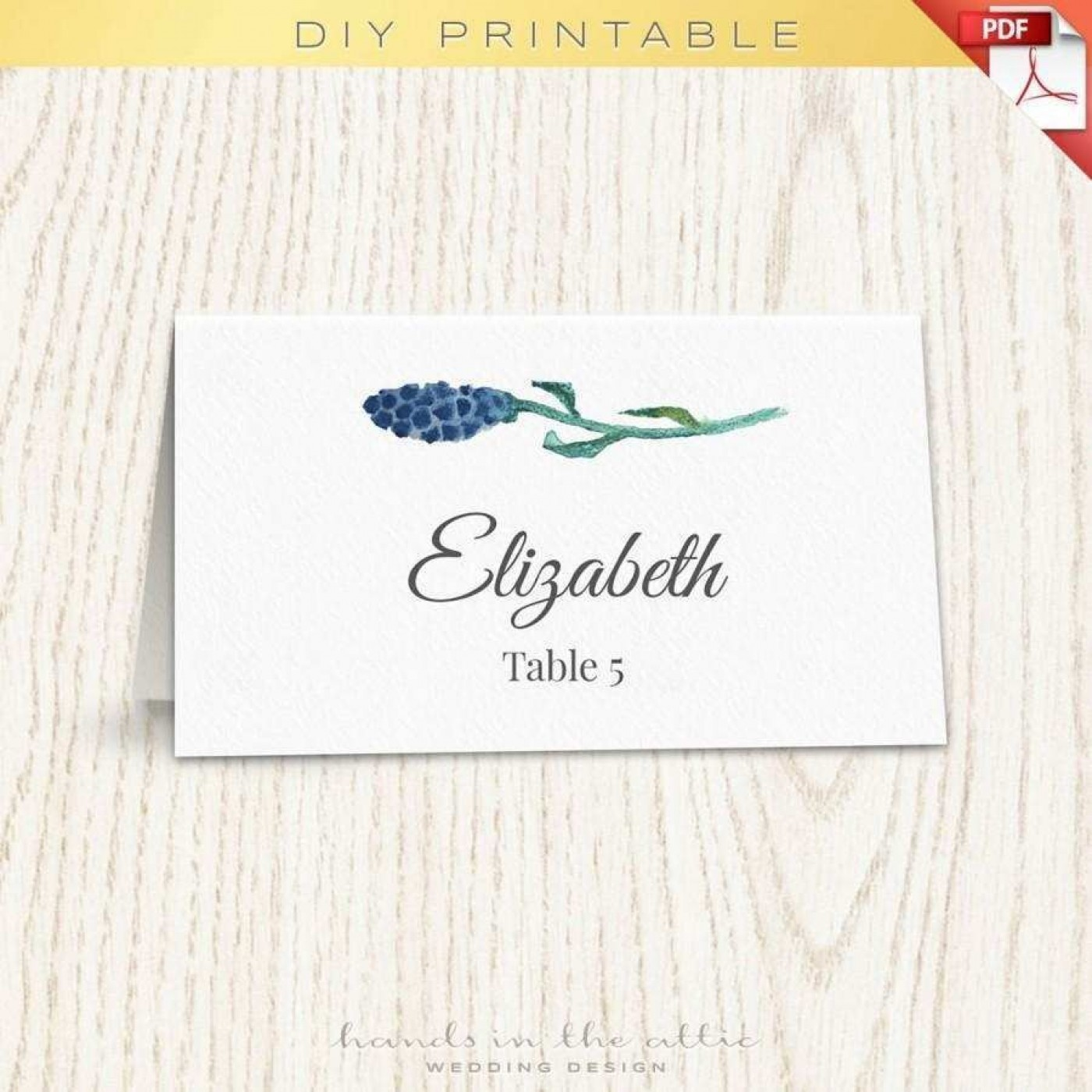 001 Singular Wedding Name Card Template Idea  Seating Chart Place Free1400