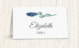 001 Singular Wedding Name Card Template Idea  Table Place Free Seating