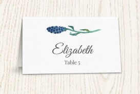 001 Singular Wedding Name Card Template Idea  Seating Chart Place Free