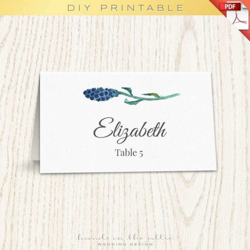001 Singular Wedding Name Card Template Idea  Seating Chart Place Free868