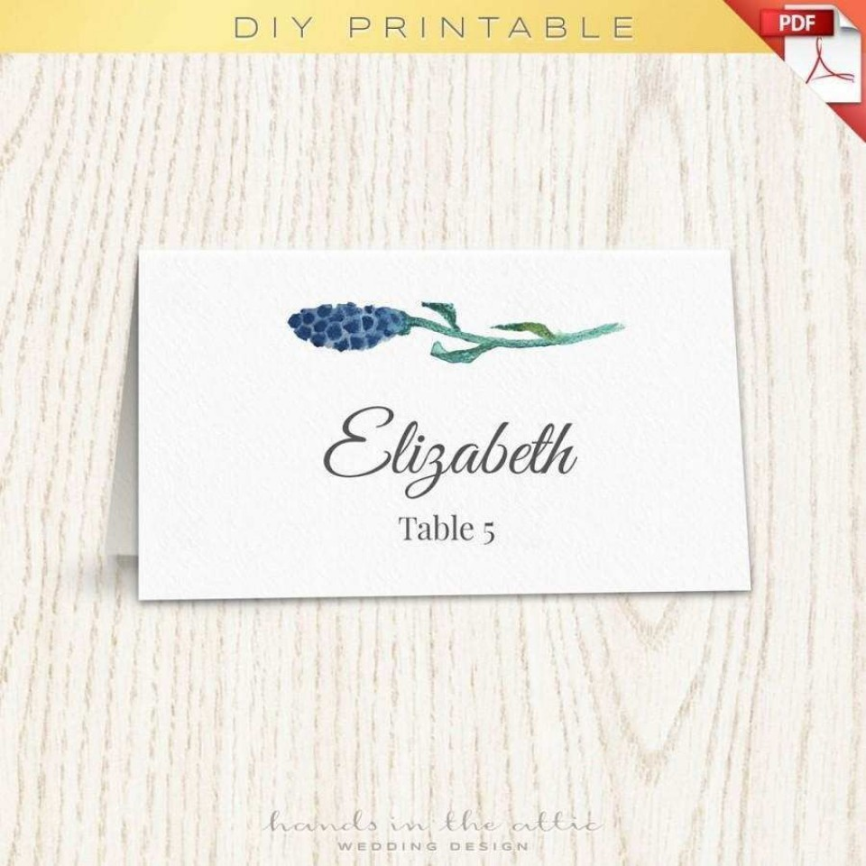 001 Singular Wedding Name Card Template Idea  Seating Chart Place Free960