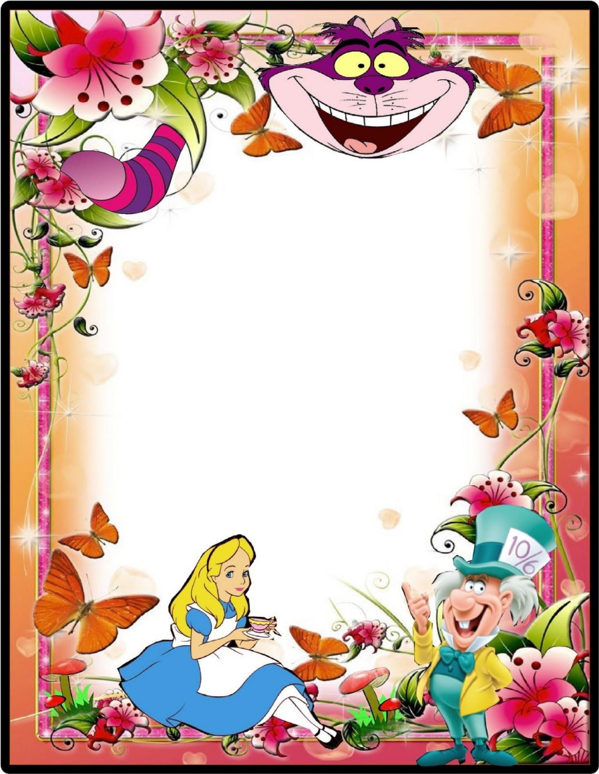 001 Staggering Alice In Wonderland Party Template Idea  Templates Invitation Free1920