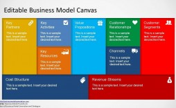 001 Staggering Busines Model Generation Template Excel High Resolution