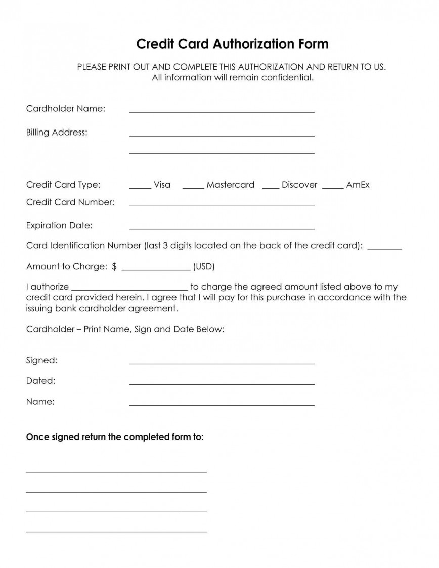 001 Staggering Credit Card Authorization Template Example  Form Canada Free Excel Letter