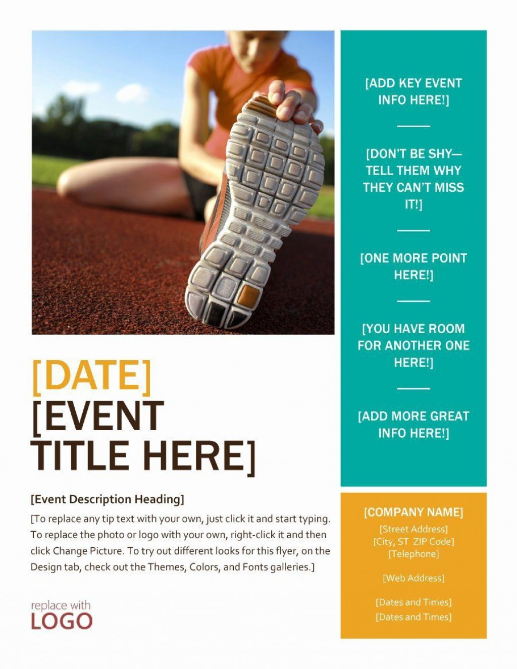 001 Staggering Event Flyer Template Free Word Sample Large
