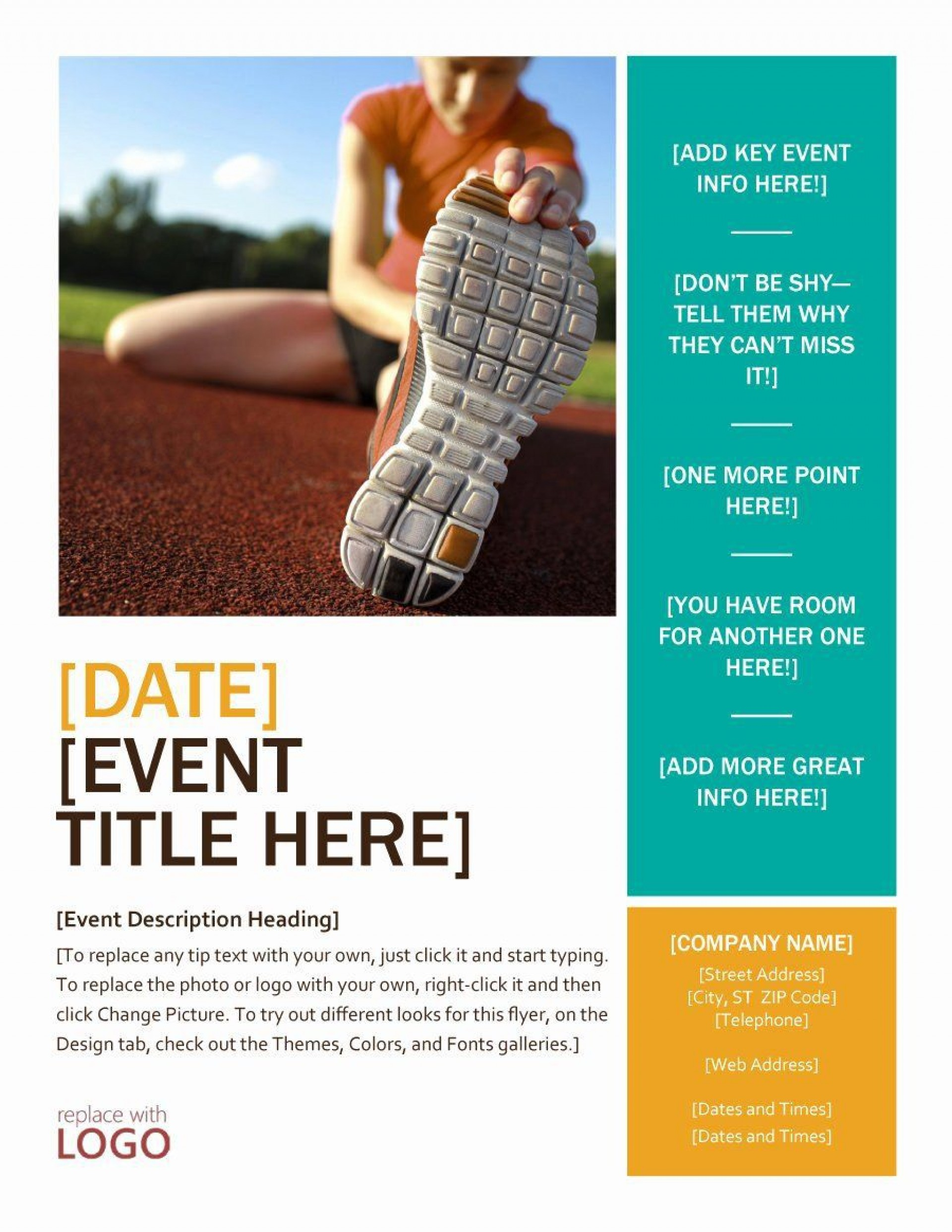 001 Staggering Event Flyer Template Free Word Sample 1920