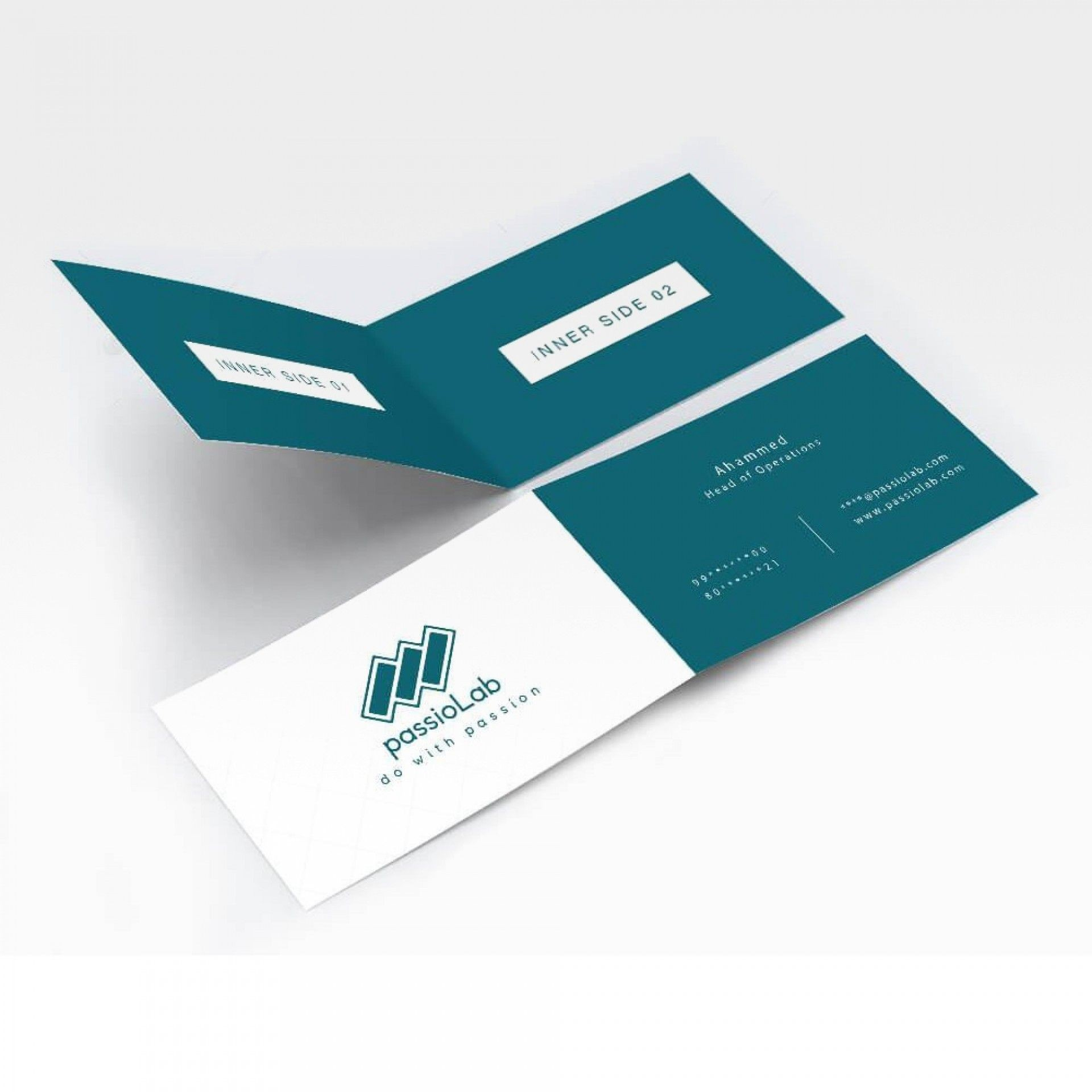 001 Staggering Folding Busines Card Template Inspiration  Folded Photoshop Ai Free1920