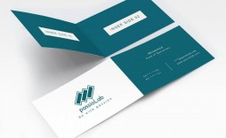 001 Staggering Folding Busines Card Template Inspiration  Folded Photoshop Ai Free