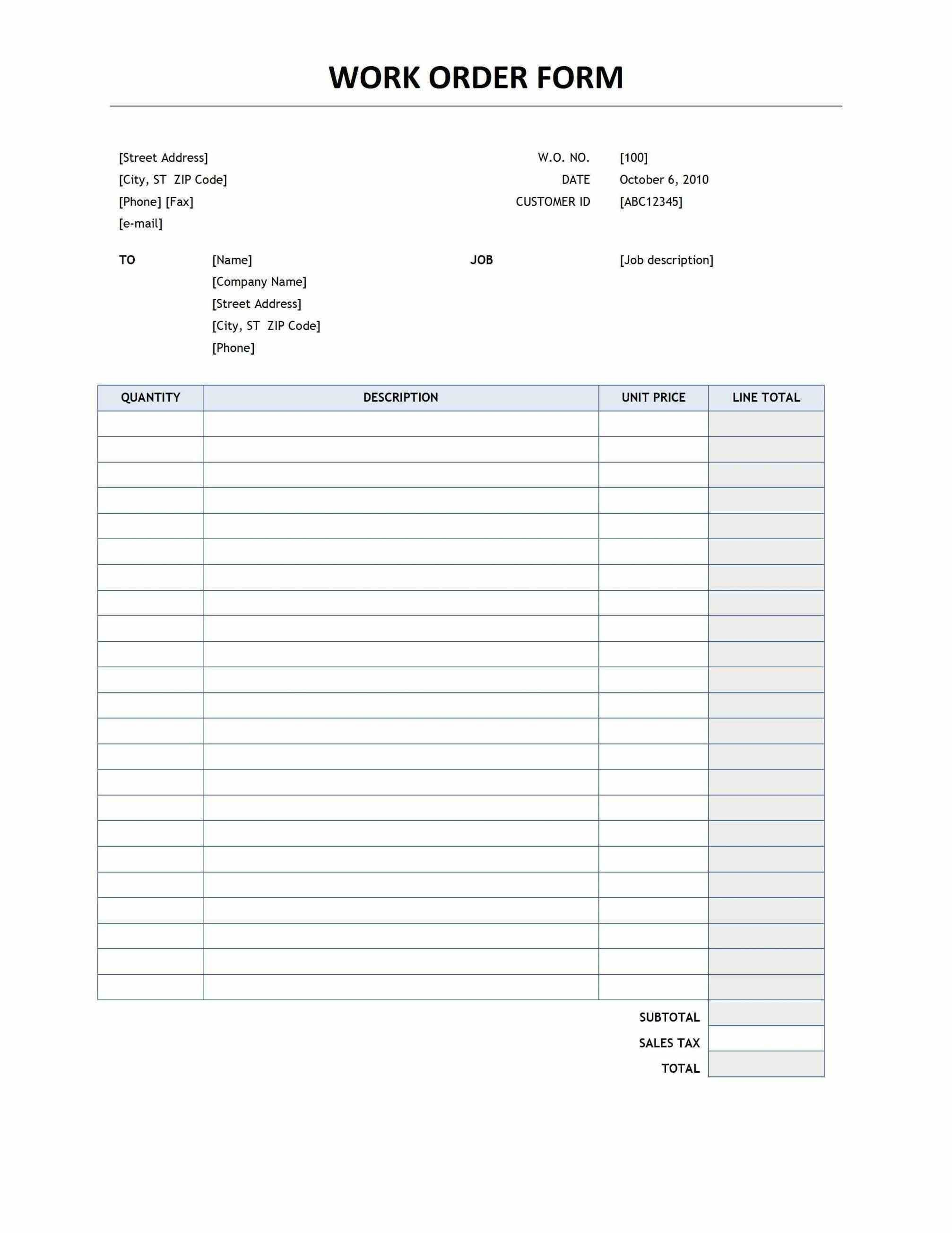 001 Staggering Food Order Form Template Word High Definition Full