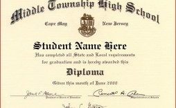 001 Staggering Free Printable High School Diploma Template Image  With Seal