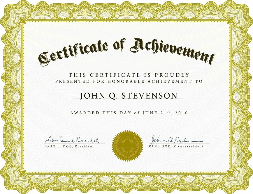001 Staggering Free Template For Certificate Idea  Certificates Online Of Completion Recognition Download Appreciation