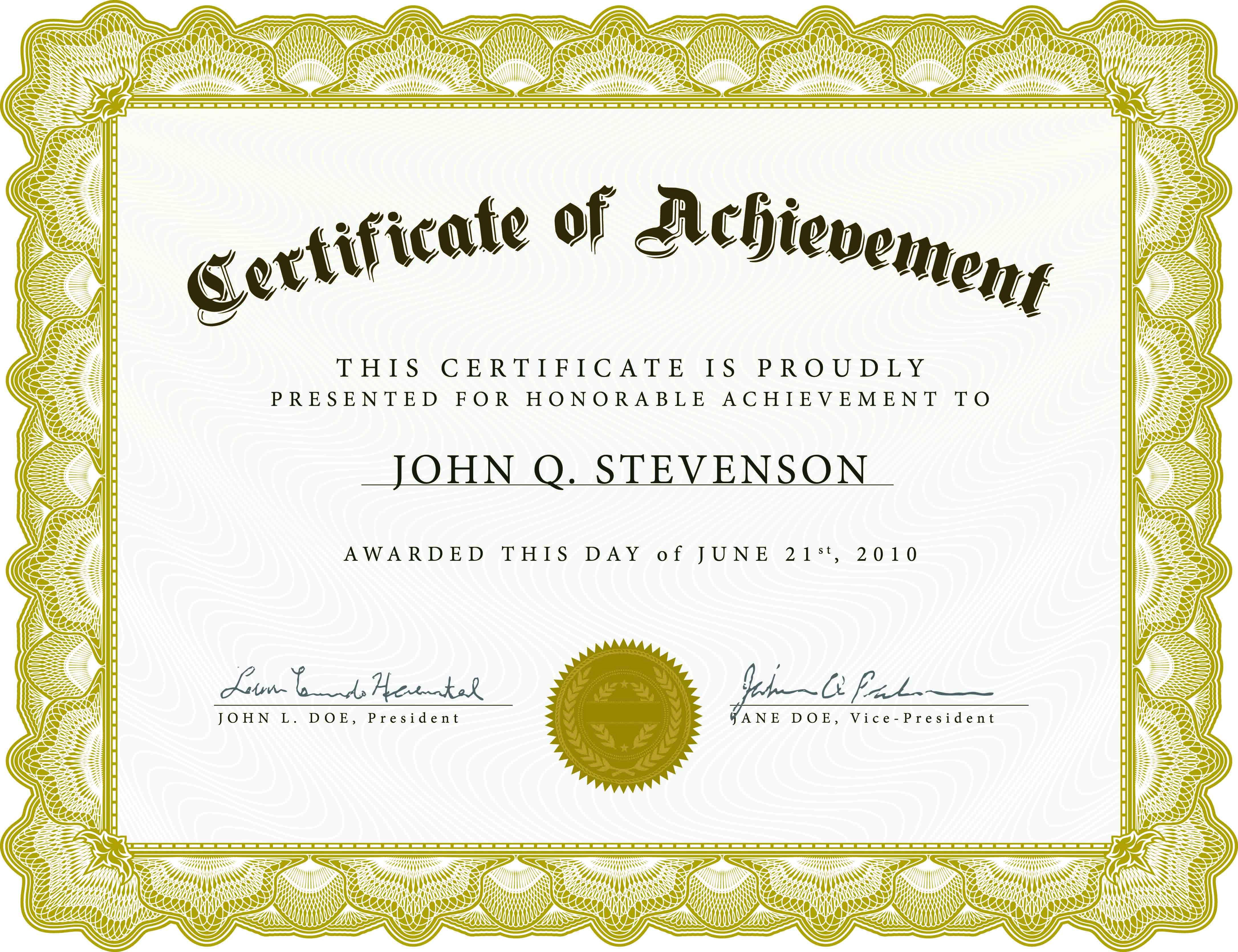 001 Staggering Free Template For Certificate Idea  Certificates Online Of Completion Attendance Printable ParticipationFull