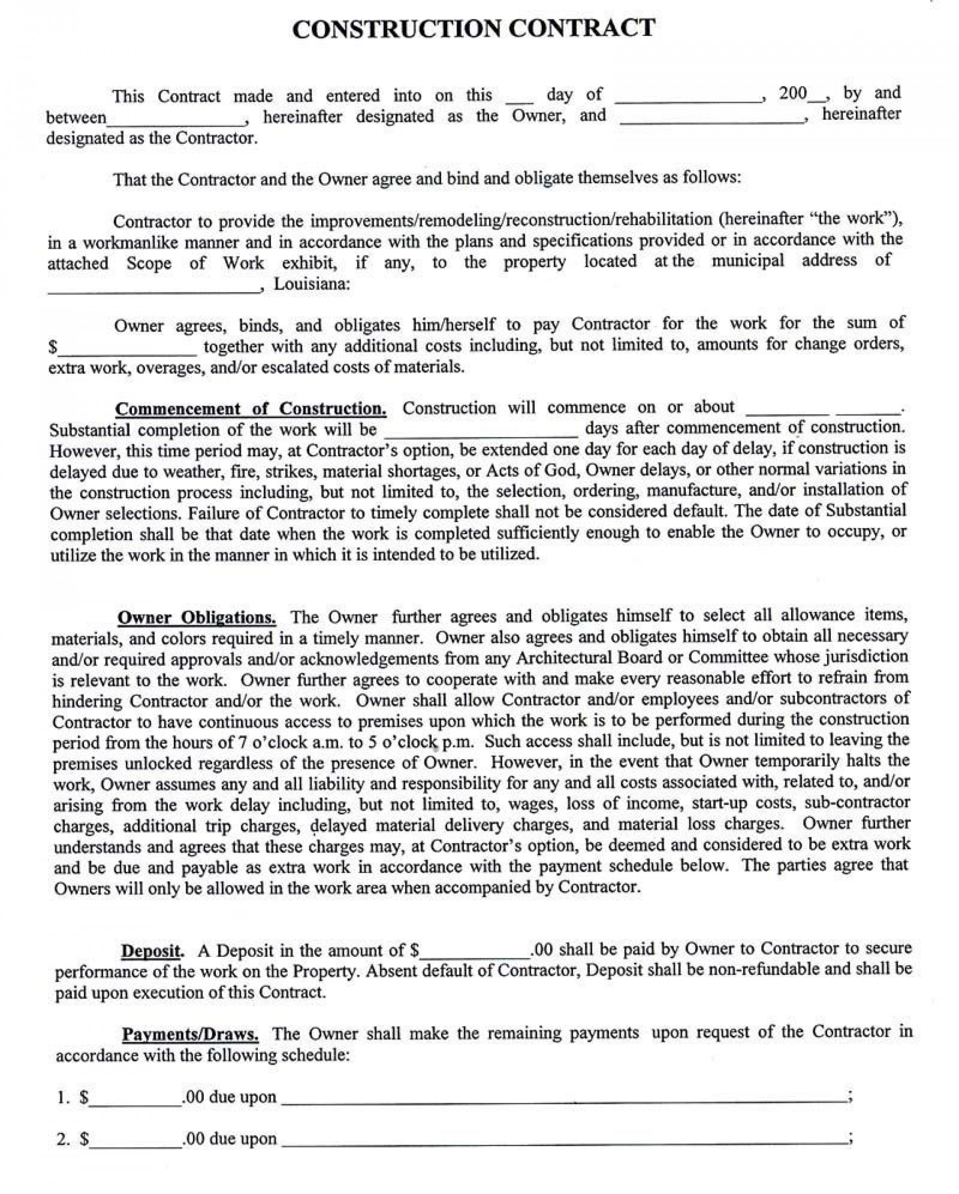 001 Staggering Home Remodeling Contract Template Highest Quality  Improvement Example Pdf Maryland1920