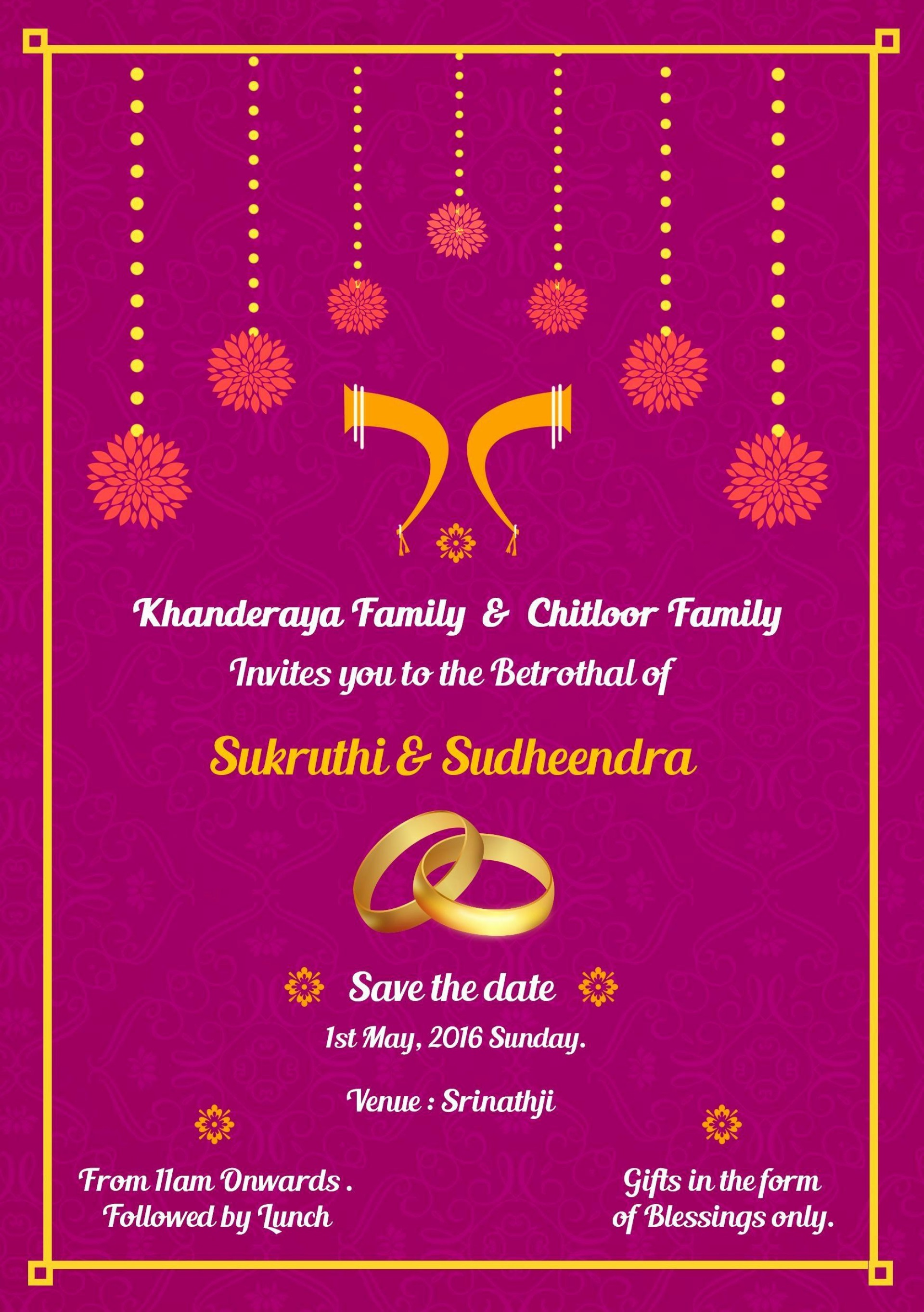 001 Staggering Indian Wedding Invitation Template Photo  Psd Free Download Marriage Online For Friend1920