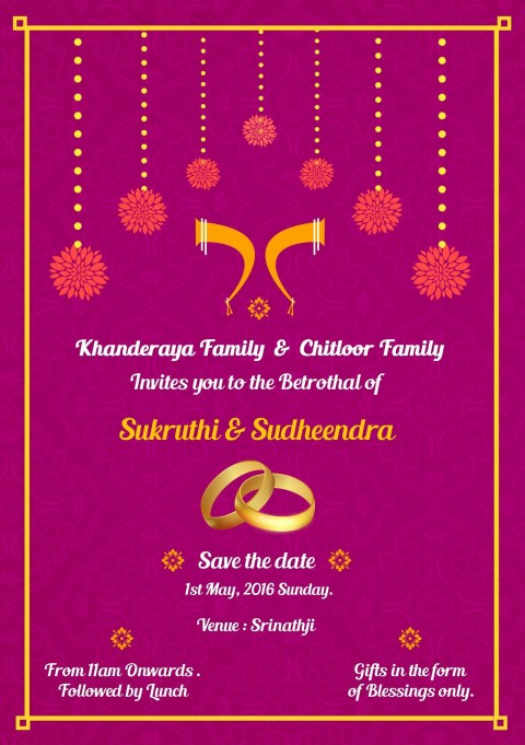 001 Staggering Indian Wedding Invitation Template Photo  Psd Free Download Marriage Online For Friend480