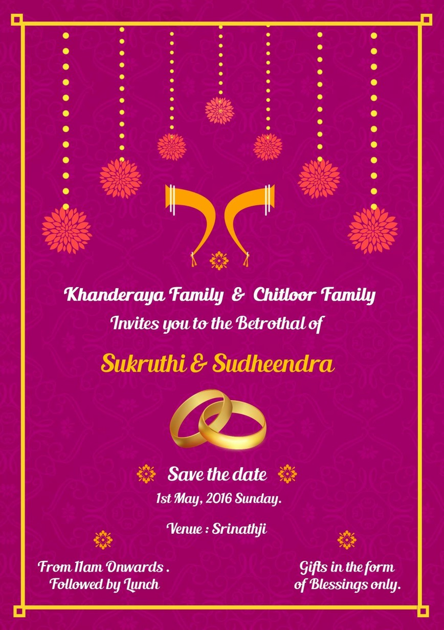 001 Staggering Indian Wedding Invitation Template Photo  Psd Free Download Marriage Online For Friend868