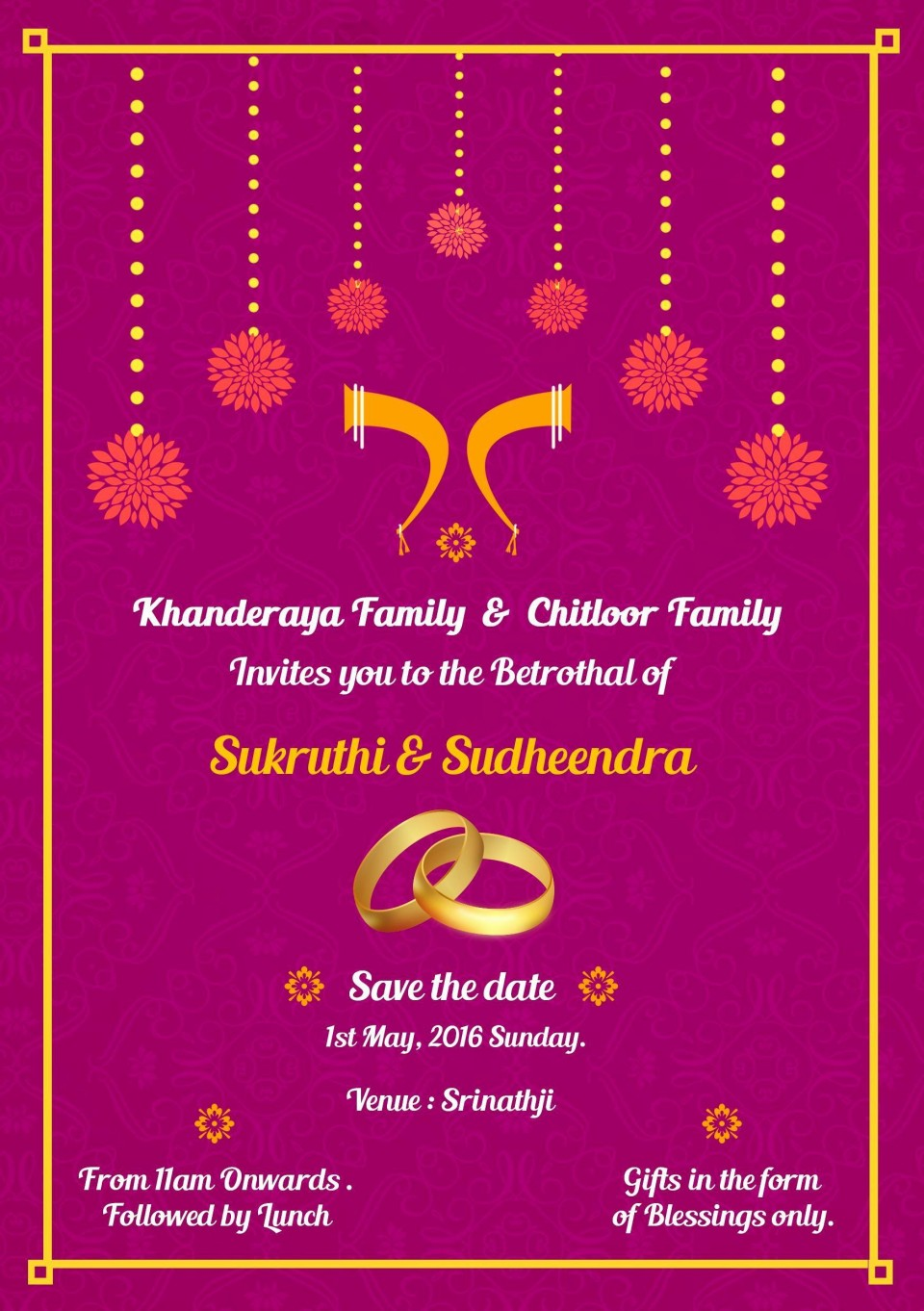 001 Staggering Indian Wedding Invitation Template Photo  Psd Free Download Marriage Online For Friend960