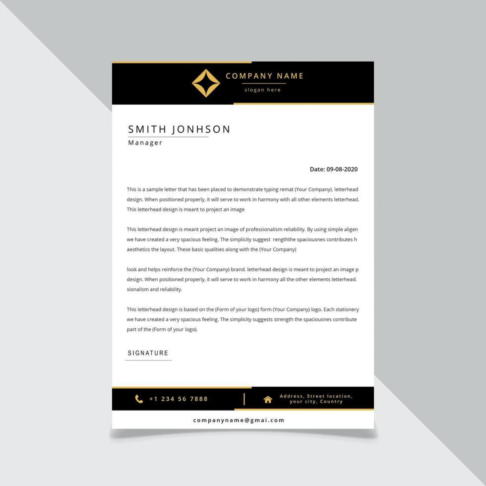 001 Staggering Letter Pad Design Template Example  Letterhead Download Ai Free In Word1920