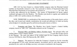 001 Staggering Llc Partnership Agreement Template Example  Operating Free