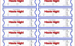 001 Staggering Print Ticket Free Template Design  Your Own