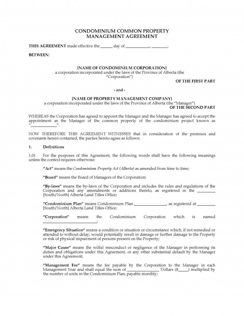 001 Staggering Property Management Contract Template Ontario Design Large