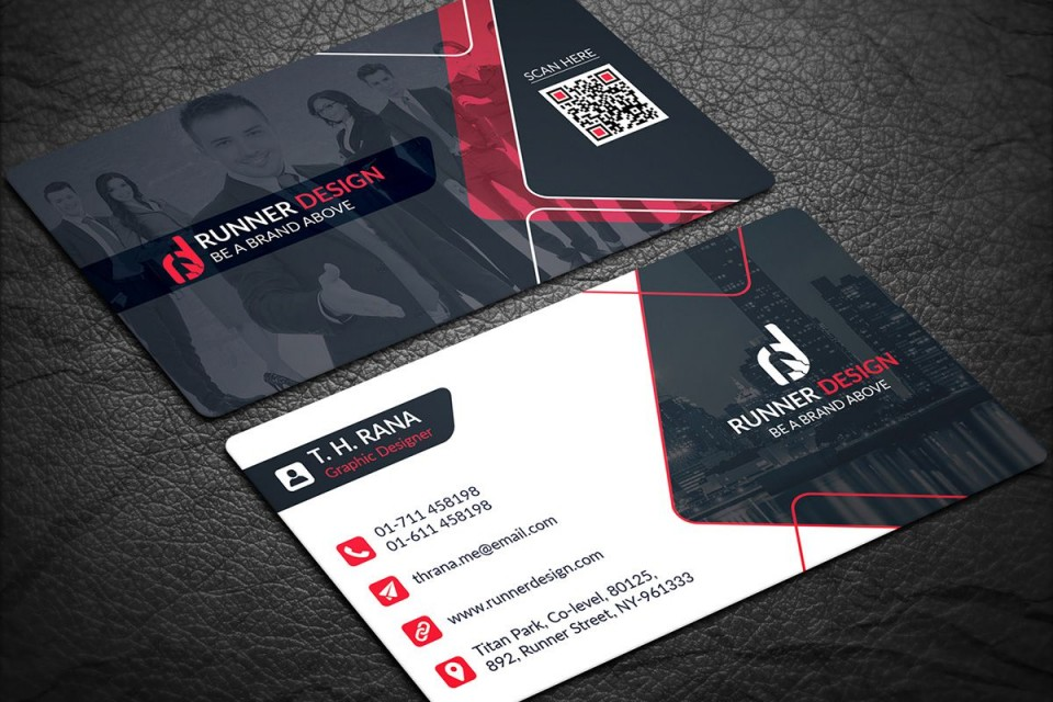001 Staggering Psd Busines Card Template High Definition  Computer Free With Bleed960