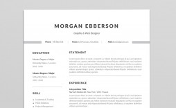 001 Staggering Single Page Resume Template Sample  One Word For Experienced Fresher
