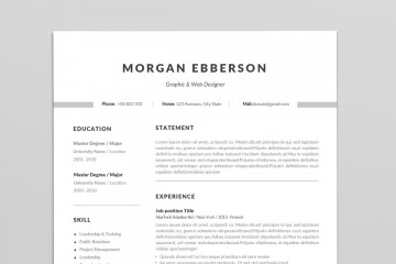 001 Staggering Single Page Resume Template Sample  Cascade One Free Download Word For Fresher360