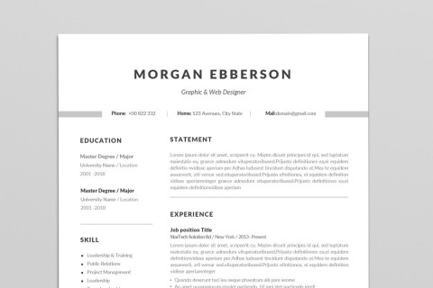 001 Staggering Single Page Resume Template Sample  Cascade One Free Download Word For Fresher480