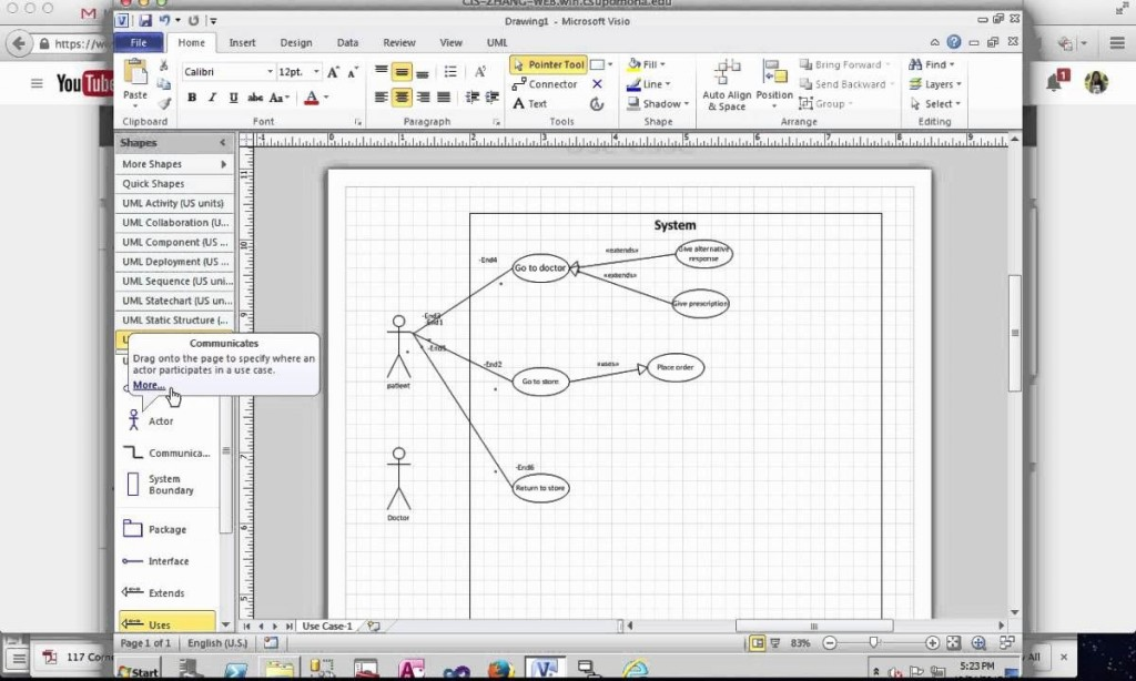 001 Staggering Use Case Diagram Template Visio 2010 Photo  Uml Model Download ClasLarge