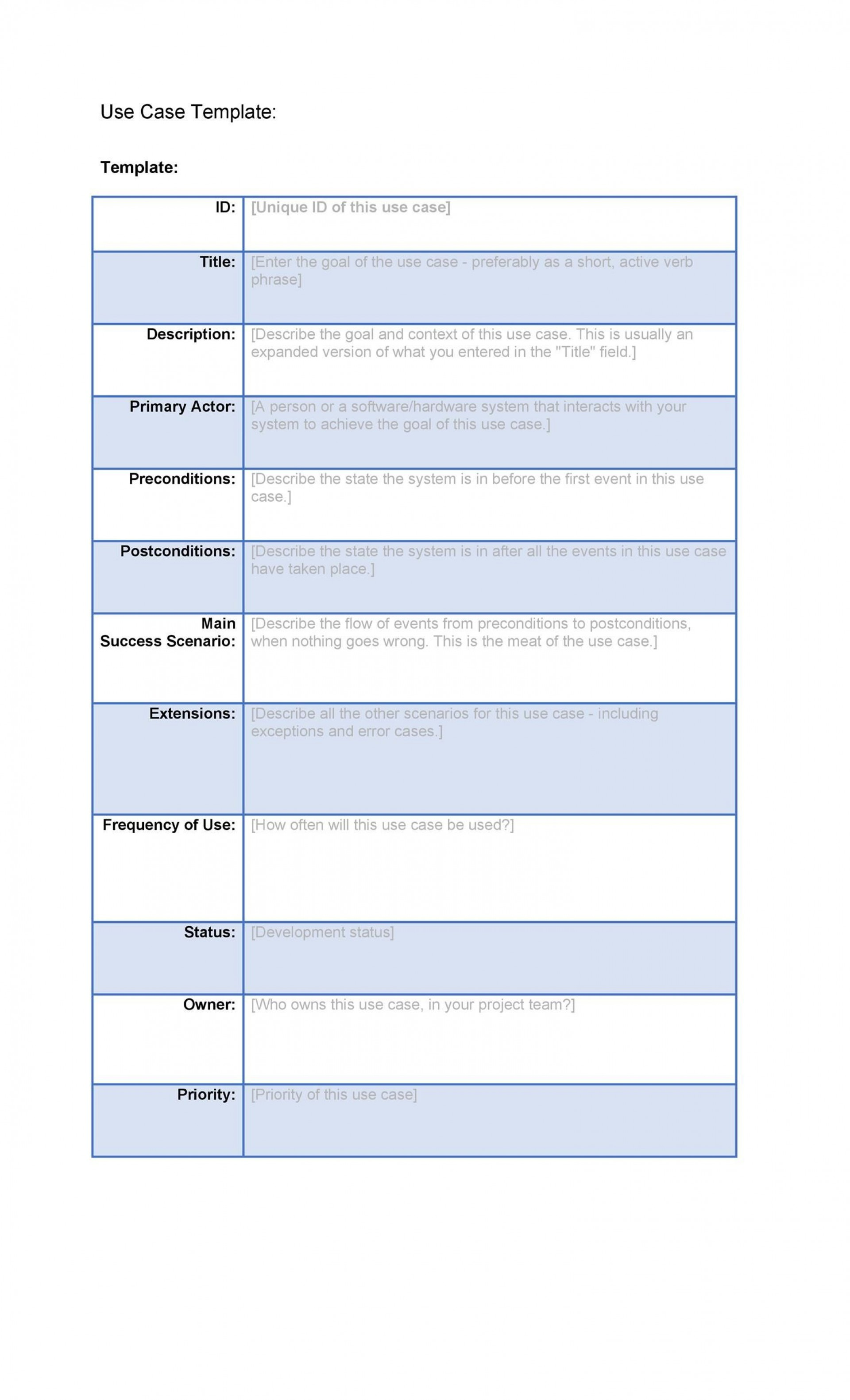 001 Staggering Use Case Template Word High Def  Doc Test1920