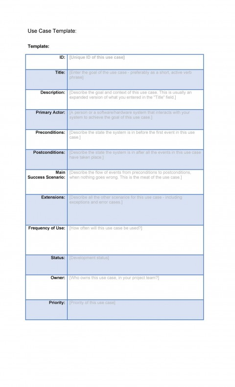 001 Staggering Use Case Template Word High Def  Doc Test480