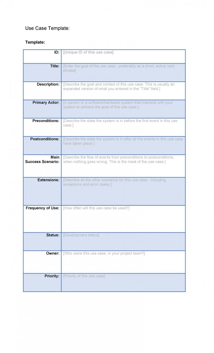 001 Staggering Use Case Template Word High Def  Doc Test728