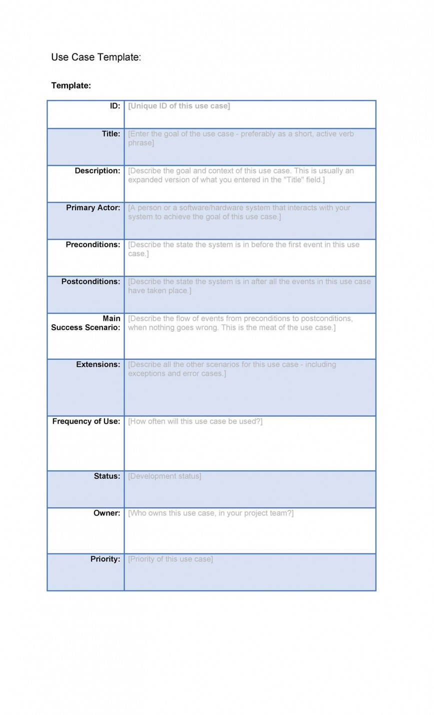 001 Staggering Use Case Template Word High Def  Doc Test868