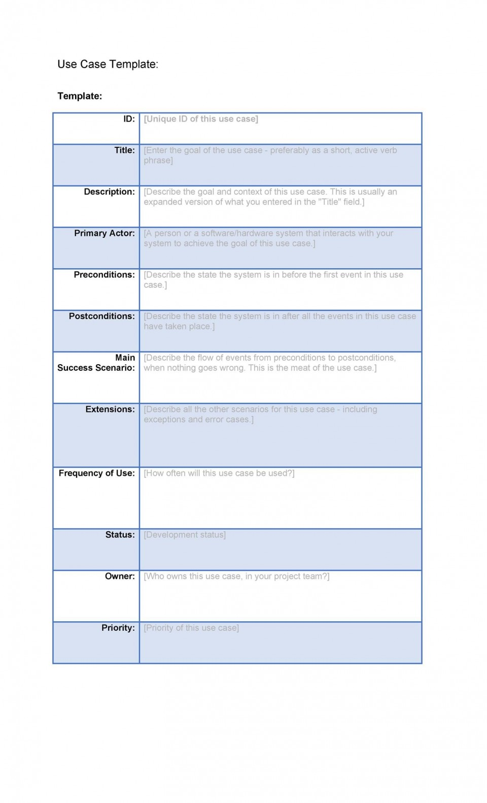 001 Staggering Use Case Template Word High Def  Doc Test960